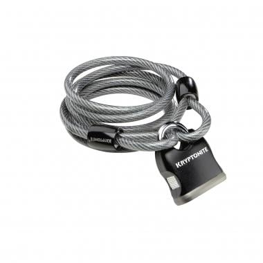 Cable antirrobo en espiral + candado KRYPTONITE KRYPTOFLEX 818 LOOPED CABLE & KEY PADLOCK (8 mm x 180 cm)